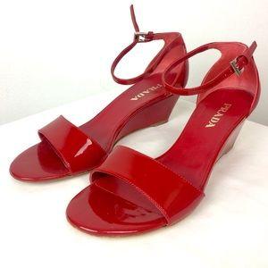 Prada, Red Patent Leather Sandal